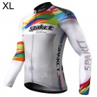 Spakct Polyester Long Sleeves Riding Cycling Jersey for Men (XL)