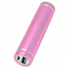 E-DREAM SMART101 Cylinder Shaped Portable 2600mAh Li-ion Battery Power Bank for HTC + More - Purple