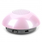 Stylish Mushroom Style Fashionable Bluetooth v2.1 + EDR 2-Channel Speaker - Pink + Grey