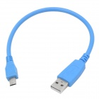 Micro USB Male to USB Male Data Charging Cable - Blue (27 CM)