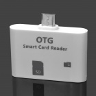 Micro USB OTG Smart Reader for Samsung Cell Phone - White (16GB)