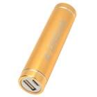 E-DREAM SMART101 Cylinder Shaped Portable 2600mAh Li-ion Battery Power Bank for HTC + More - Golden
