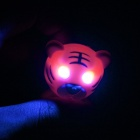 Tiger Style 2-LED azul Llavero Luz w / Sound Effect - Amarillo (3 x AG10)