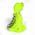 Dinosaur Style LED Purple Light Keychain w/ Sound Effect - Green + White (3 x AG10)