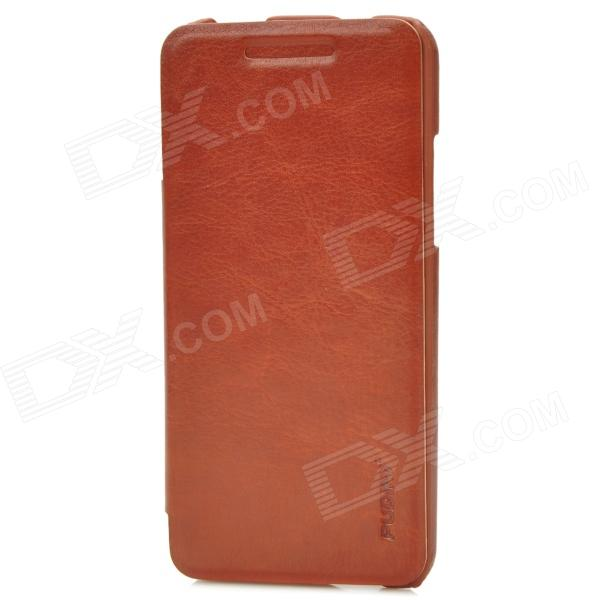 PUDINI WB-HTCM4R Protective PU Leather + PC Case for HTC One Mini M4 - Brown cute popcorn pattern tpu back case for htc one mini m4 601e blue pink