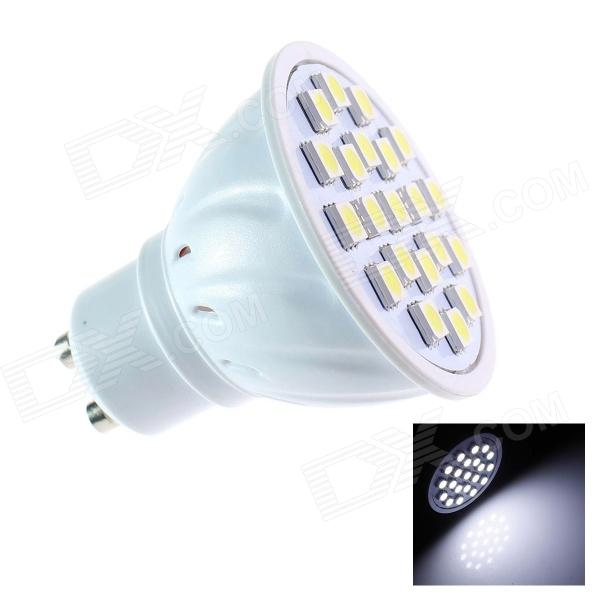 GCD A23 Energy-Saving GU10 3W 200lm 6500K 21-SMD 5050 LED White Light Lamp Bulb - White (AC110~120V)