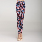 Fashionable American Style Star Pattern Women's High Waist Leggings - Multicolored (Free Size)