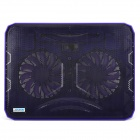 Coolcold Ultra-thin Quiet USB Powered 2-Fan Cooling Pad for Laptops - Purple