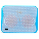 Coolcold Ultra-thin Quiet USB Powered 2-Fan Cooling Pad for Laptops - Blue