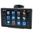 "Chuangzhuo 70T TV 7"" TFT WinCE 6.0 GPS Navigator w/ AV-In / 4GB Brazil Map / Bluetooth / TF - Black"