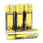 BTY Disposable 1.5V Alkaline AA Batteries Set - Golden + Black (4 PCS)
