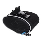ROSWHEEL 13814 Cycling Bicycle Saddle Seat PVC + PU Tail Bag - Black