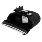 ROSWHEEL 13814-A Cycling Bicycle Saddle Seat PVC + PU Tail Bag - Black