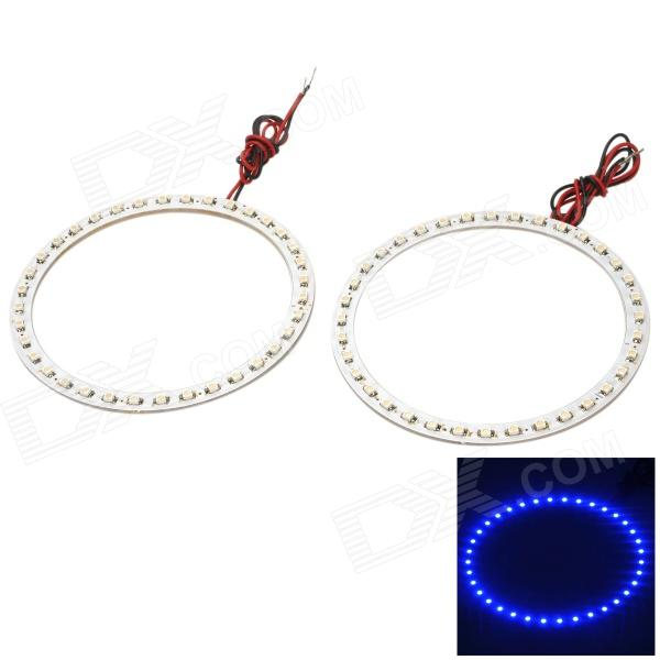 1.8W 288lm 480~450nm 36-SMD 1210 LED Blue Car Decorative Angel Eye Light Rings (12V / 2 PCS) thumbnail