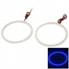 1.8W 288lm 480~450nm 36-SMD 1210 LED Blue Car Decorative Angel Eye Light Rings (12V / 2 PCS)