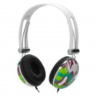 Sonun SN-662V Fashion 3.5mm Stereo Headphones - Green + White + Black