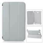 Stylish Protective PU Leather Case for Samsung T210 - Light Grey
