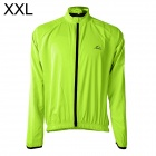 LAMBO HY22 Men's Cycling Dacron Long Sleeves Jersey - Fluorescence Green (XXL)