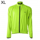 LAMBO HY22 Men's Cycling Dacron Long Sleeves Jersey - Fluorescence Green (XL)