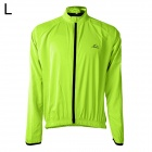 LAMBO HY22 Men's Cycling Dacron Long Sleeves Jersey - Fluorescence Green (L)