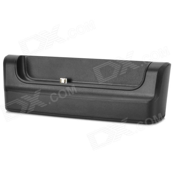 Two-End USB Data/Charging Dock Cradle for Blackberry Q10 - Black usb sync data charging docking station cradle for htc desire hd g10 black