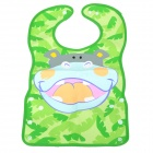 HM-01 Baby's Cute Cartoon Hippo Pattern PVC Bib for Eating / Drinking - Multicolored
