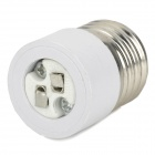 Durable Plastic + Zinc Alloy E27 to MR16 Conversion Socket - White