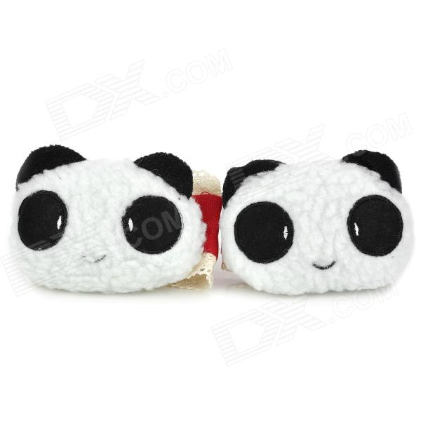 Cute Cartoon Panda Style Curtain Buckles - Black + White + Pink (Pair) чехол для карточек cute panda дк2017 117