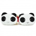 Cute Cartoon Panda Style Curtain Buckles - Black + White + Pink (Pair)