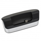 Stylish Charging Docking Station w/ USB Data/Charging Cable for HTC 601e One Mini - Silver + Black