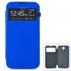 Stylish Flip-Open PU Leather Case for Samsung Galaxy i9500 / S4 - Blue