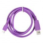 USB to Micro USB Data / Charging Cable for Samsung / HTC / Nokia / Motorola - Purple (1m)