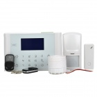 YL-007M2DX 4-CH Intelligent GSM & PSTN Auto-Dial Alarm System - White + Black