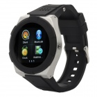 KICCY A6 Water Resistant Bluetooth Smart Watch Phone w/ 1.54', FM for Android and iOS - Black