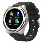 KICCY A8 Water Resistant Bluetooth Smart Watch Phone w/ 1.54', FM for Android and iOS - Silver