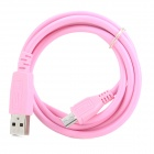 USB to Micro USB Data / Charging Cable for Samsung / HTC / Motorola / Nokia - Pink (1m)