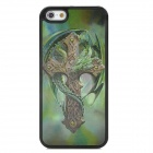 3D Dragon Cross Style Protective Back Case for Iphone 5 - Green