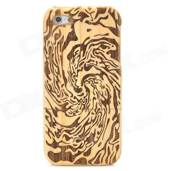 Stylish Protective Bamboo Back Case for Iphone 5 - Brown + Yellow