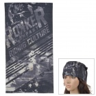 acacia 6032507 Multifunction Outdoor Sports Skull Pattern Cycling Seamless Head Scarf - Black