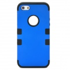 3-in-1 Stylish Protective Silicone + PC Case for Iphone 5 - Blue + Black