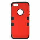 3-in-1 Stylish Protective Silicone + PC Case for Iphone 5 - Red + Black