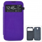 Protective PU Leather Case for Samsung Galaxy S4 i9500 - Purple