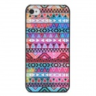 Stylish Tribal Ethnic Style Protective Plastic Back Case for Iphone 4 / 4S - Multicolor