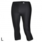Sbart Women's Stylish Swimming Fitness Cropped Pants - Black (L)