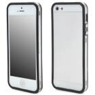 Protective TPU Bumper Frame for Iphone 5 - Black + Transparent White