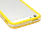 Protective TPU Bumper Frame for Iphone 5 - Yellow + Transparent White