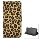 Leopard Pattern Protective PU Leather Case for HTC One M4