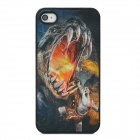 3D Man Fighting with Tyrannosaurus Style Protective Back Case for Iphone 4 / 4S - Multicolor
