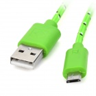 Universal USB Male to Micro USB Data Sync & Charging Cable - Green(1m)