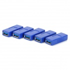 USB 3.0 Female to Female Converting Adapters - Blue (5 PCS)